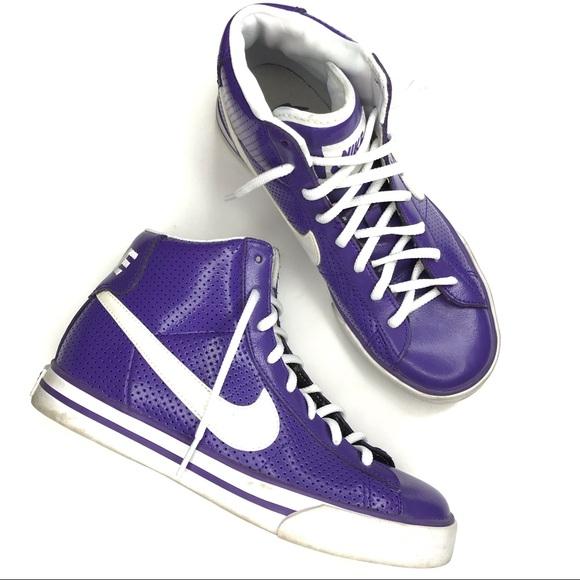 Nike Shoes | Nike Brs Purple High Tops